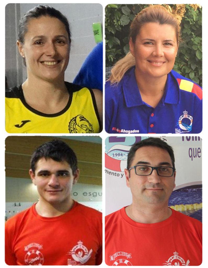 Cristina García, Elena Justo, Israel García y Alberto Retuerto